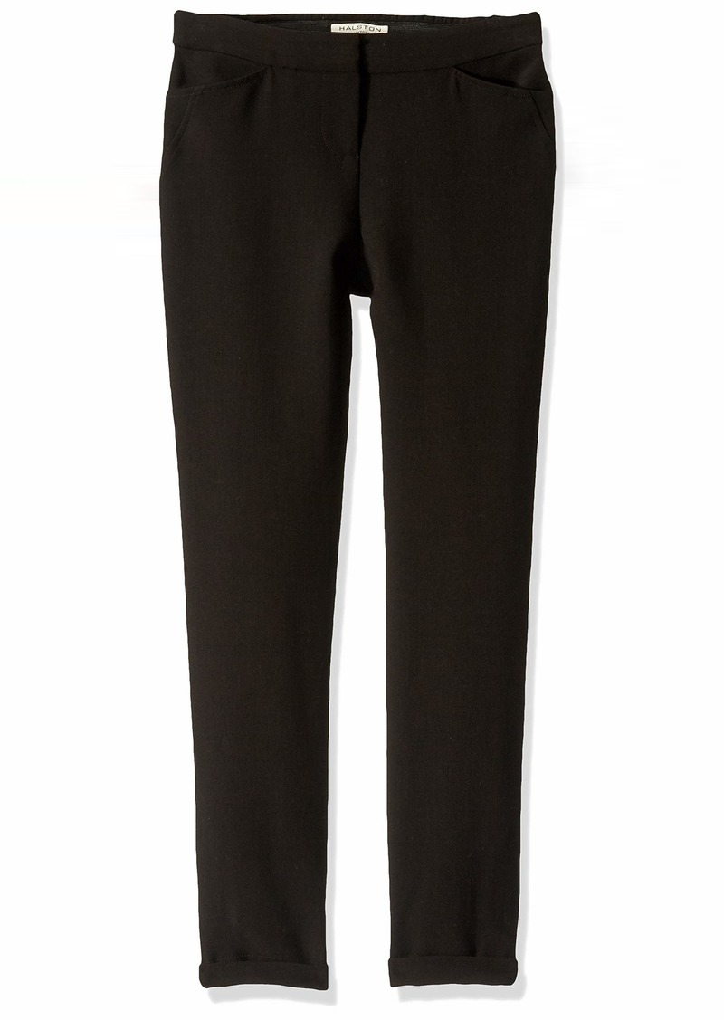 Halston Heritage Women's Tapered Ankle Zipped Pants