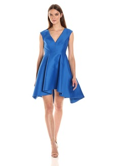 HALSTON HERITAGE Women's V-Neck Fit and Flare Dress