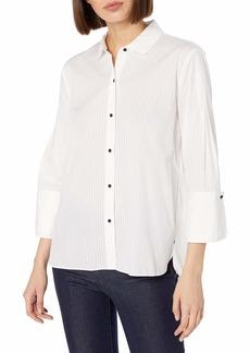 Halston Heritage Women's Wide Longsleeve Oversized Shirt  S