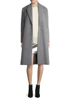 Halston Heritage Wool-Blend Faux-Fur Combo Coat