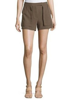Halston Heritage Woven Patch Shorts
