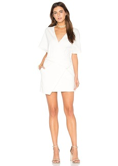 Halston Heritage Wrap Dress in White. - size 0 (also in 2,8)