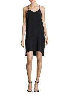 Halston Heritage Y-Back Slip Dress