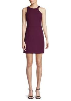 Halston Heritage Zip-Up Sheath Dress