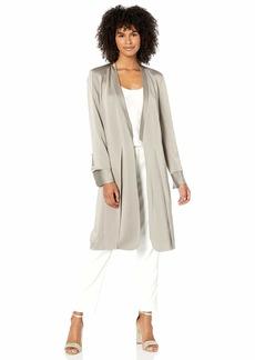 Halston Heritage Halston Women's Long Sleeve Satin Duster Jacket