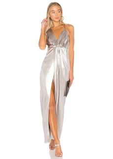 Halter Neck Asymmetrical Dress