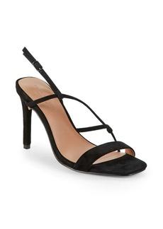 Halston Heritage Isla Stiletto Heel Suede Sandals