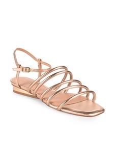 Halston Heritage Leandra Metallic Leather Ankle Strap Sandals