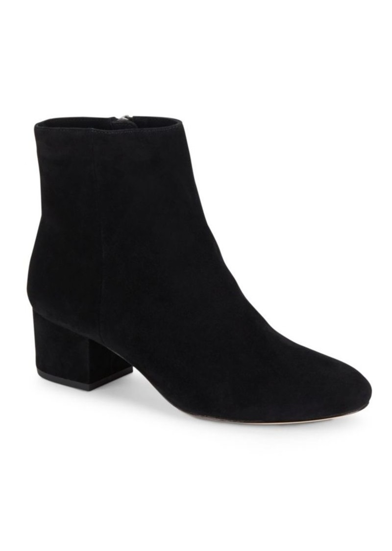 Halston Heritage Leather Block Heel Ankle-Boots