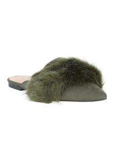 Halston Heritage Lisa Emerald Faux Fur Flat