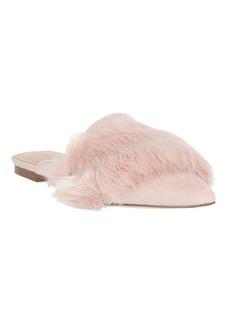 Halston Heritage Lisa Pink Faux Fur Flat