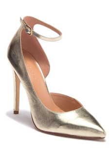 Halston Heritage Margo Half d'Orsay Leather Stiletto Pump