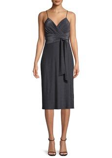 Halston Heritage Metallic Jersey Cami Dress