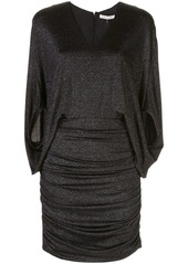 Halston Heritage metallic knit dress