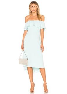 Off Shoulder Flounce Detail Dress