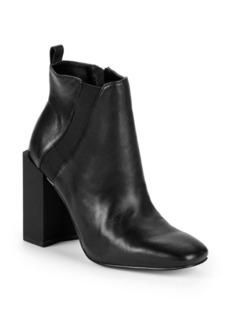 Halston Heritage Peregrun Block Heel Leather Booties