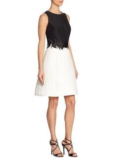 Roundneck Colorblock Dress