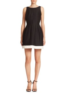 Seamed Silk & Cotton Faille Dress