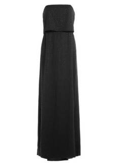 Halston Heritage Sequined Strapless Gown