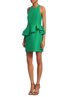 Halston Heritage Sleeveless Peplum Sheath Dress