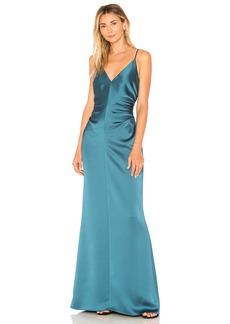 Slip Dress With Side Gathers
