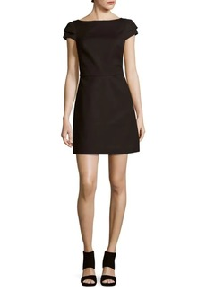 Halston Heritage Solid Cap-Sleeve Dress