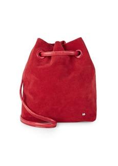 Halston Heritage Suede Bucket Bag