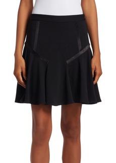 Halston Heritage Tape Detail Flounce Skirt