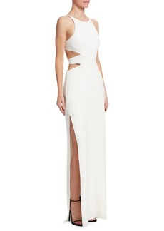 Halston Heritage Tie-Back Cut Out Gown
