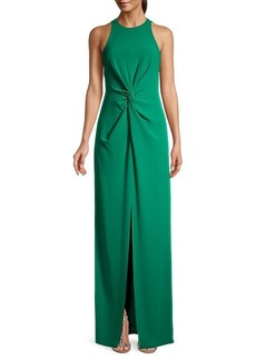 Halston Heritage Twist-Front Gown