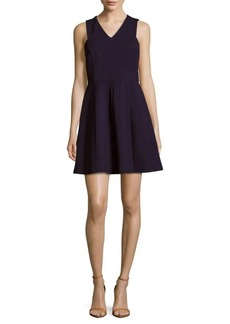 Halston Heritage V-Neck Sleeveless A-Line Dress