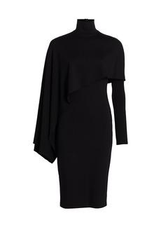 Halston Layla Drape Overlay Sheath Dress