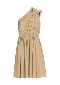Halston Rory Metallic Knit Dress
