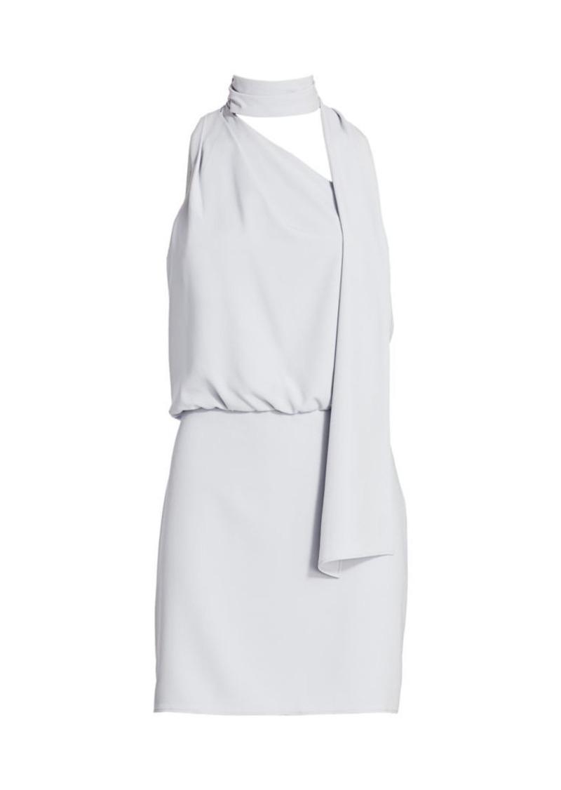 Halston Scarf-Neck Dress