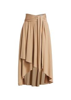 Halston Tessa Jersey Drape Skirt
