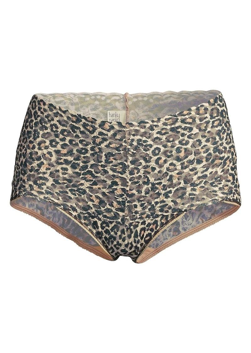 Hanky Panky Classic Leopard Lace Boyshorts