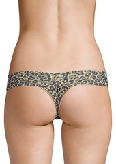 Hanky Panky Classic Leopard Lace Low-Rise Thong