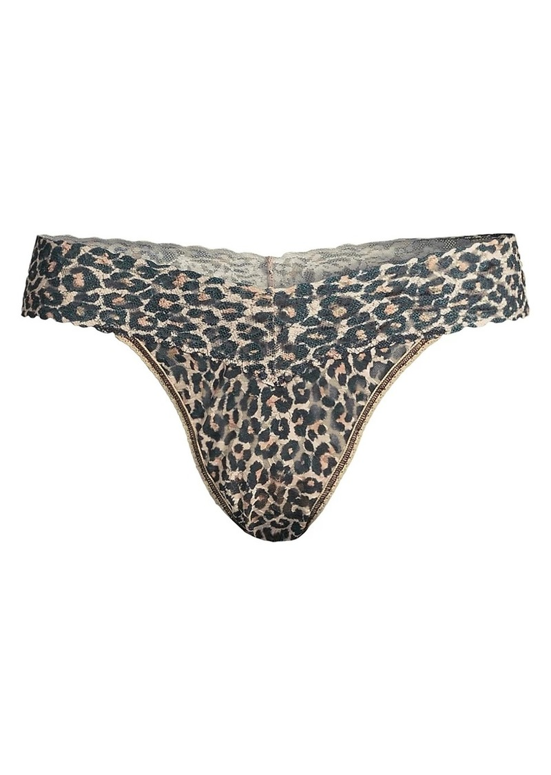 Hanky Panky Classic Leopard Lace Original-Rise Thong