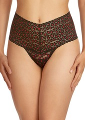 Hanky Panky Crosseyed Leopard Lace Thong