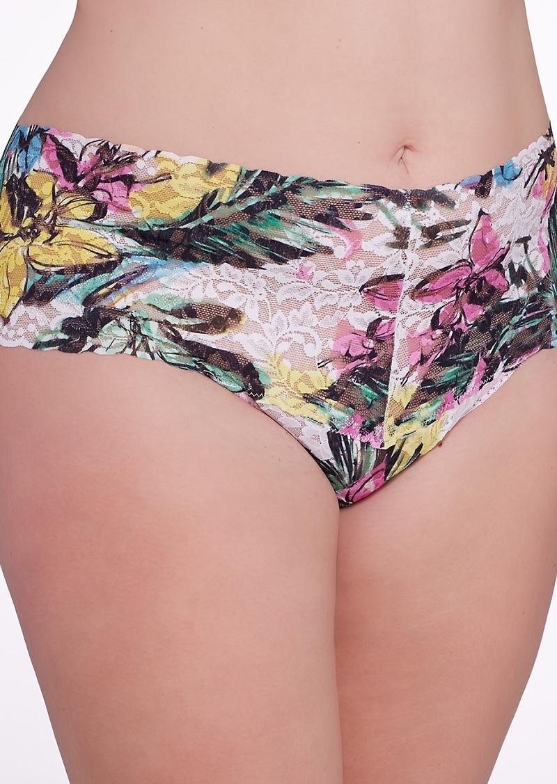 Hanky Panky + Tropical Bloom Retro Thong Plus Size