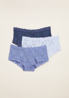 Hanky Panky 3 Pack Signature Lace Something Blue Boy Shorts
