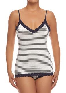 Hanky Panky Lace-Trim Striped Jersey Camisole