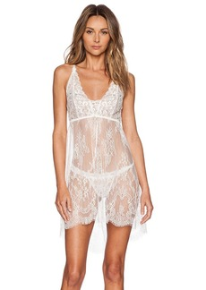Hanky Panky Victoria Lace Chemise with G-String in Ivory. - size S (also in L,M)