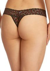 Hanky Panky Leopard Lace Thong