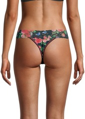 Hanky Panky Papillion Rose Lace-Trimmed Thong