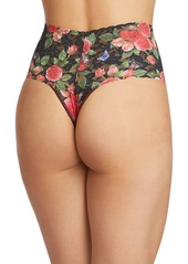 Hanky Panky Paplillion Rose High-Rise Lace Retro Thong