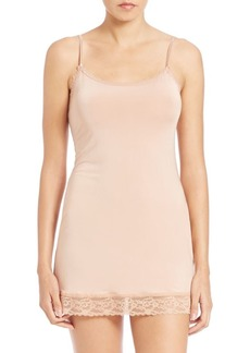 Hanky Panky Silky Skin Lace-Trim Fitted Slip
