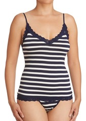 Hanky Panky Striped Jersey Lace-Trim Camisole