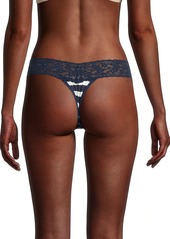 Hanky Panky Striped Lace Thong