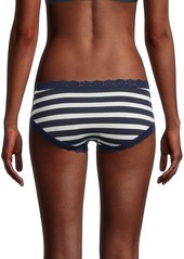 Hanky Panky Striped Lace-Trim Briefs